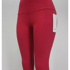 """Lululemon Align 28"""" Pant size 4 Ruby Red"""